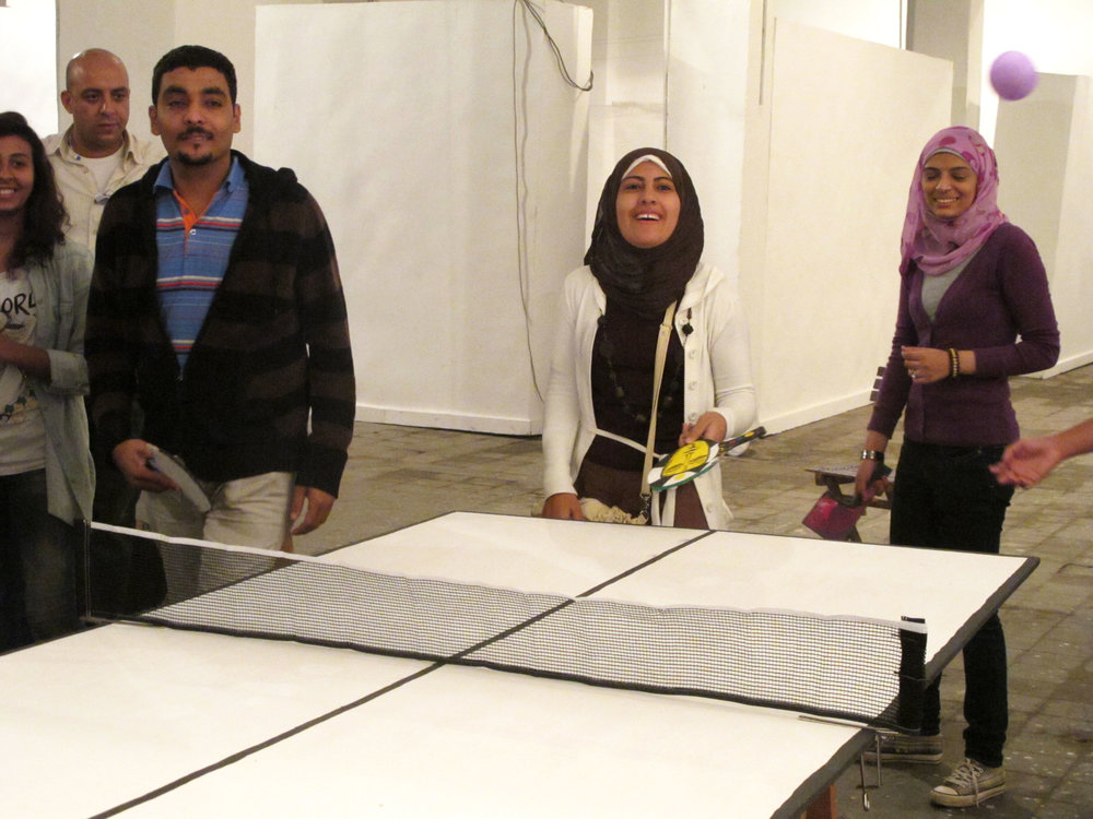 Representing Utopia. Workshop at Townhouse Gallery in Cairo, 2010