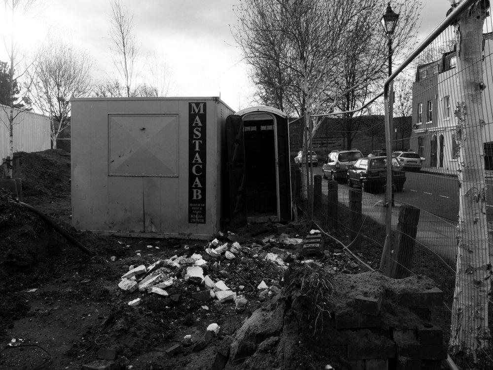 "Not to find one's way. ""Hamburger Bahnhof"", B/W Photograph, 2012"