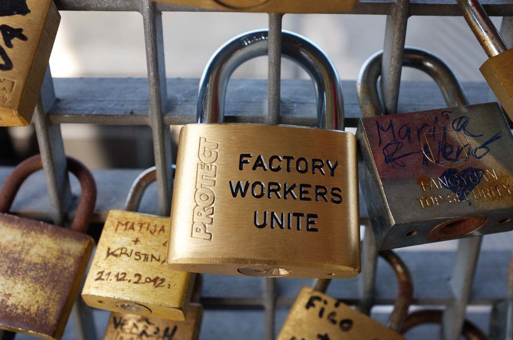 FACTORY WORKERS UNITE (Padlock). Installation view Museum of Contemporary Art Zagreb, 2015