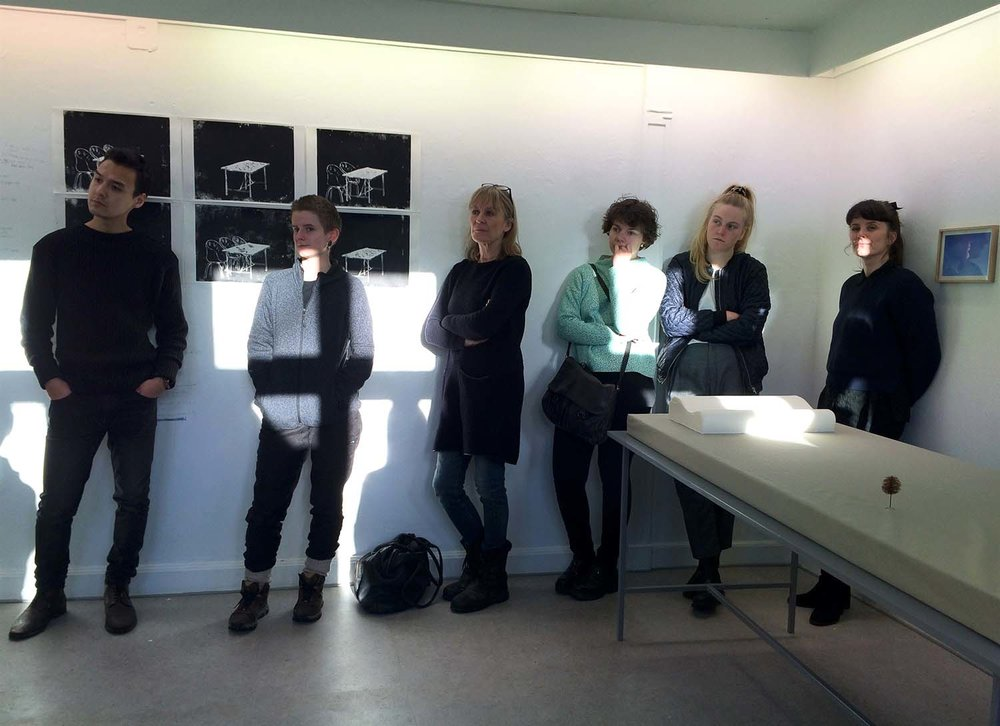 Copenhagen Art School. Artist talk at Grafikeres Hus