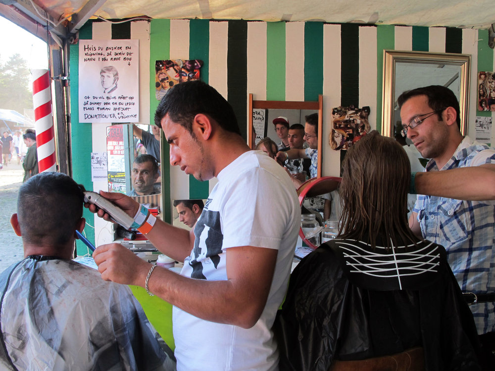 Barbershop at The Roskilde Festival, Urban Conflict Area. 2010