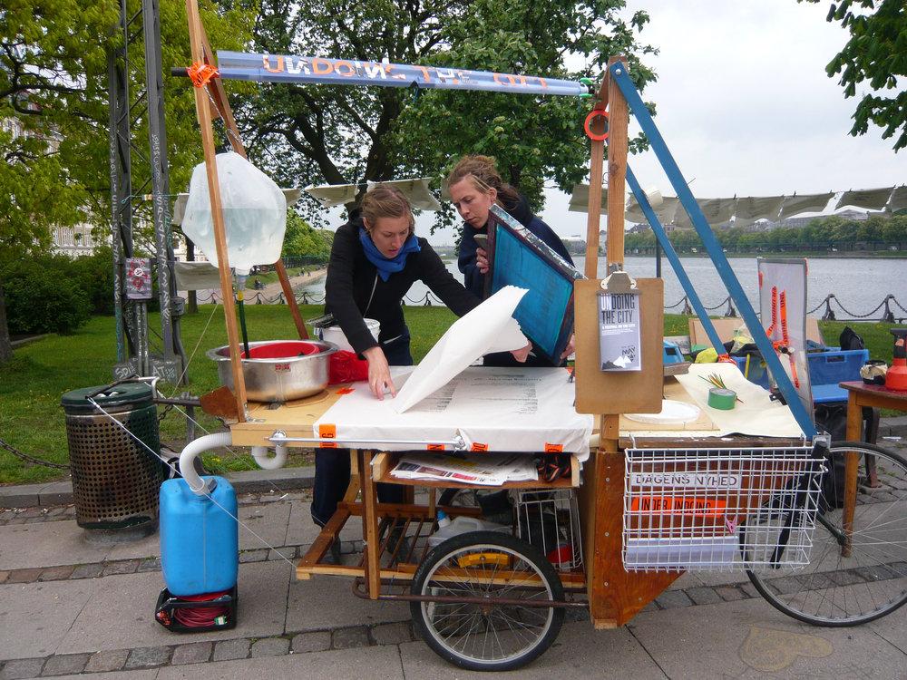 Undoing The City. Mobile Print Workshop, 2009