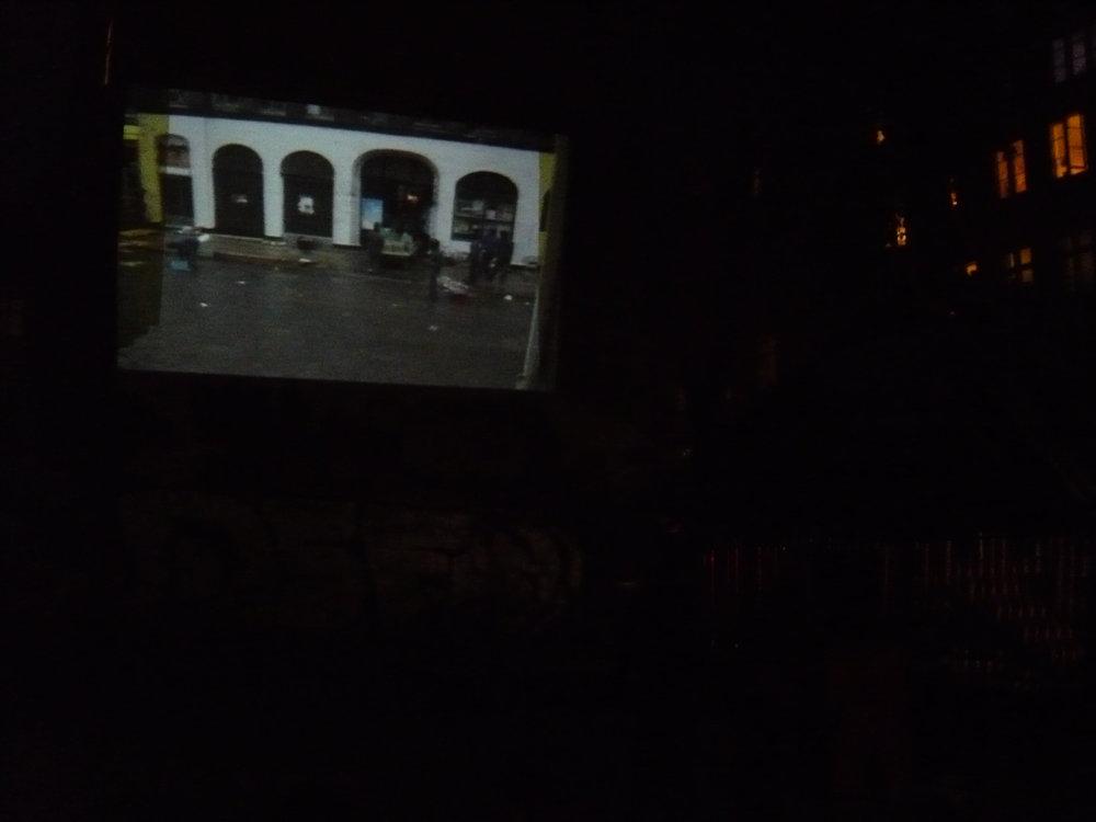 Undoing The City. Film screenings in public space, 2009