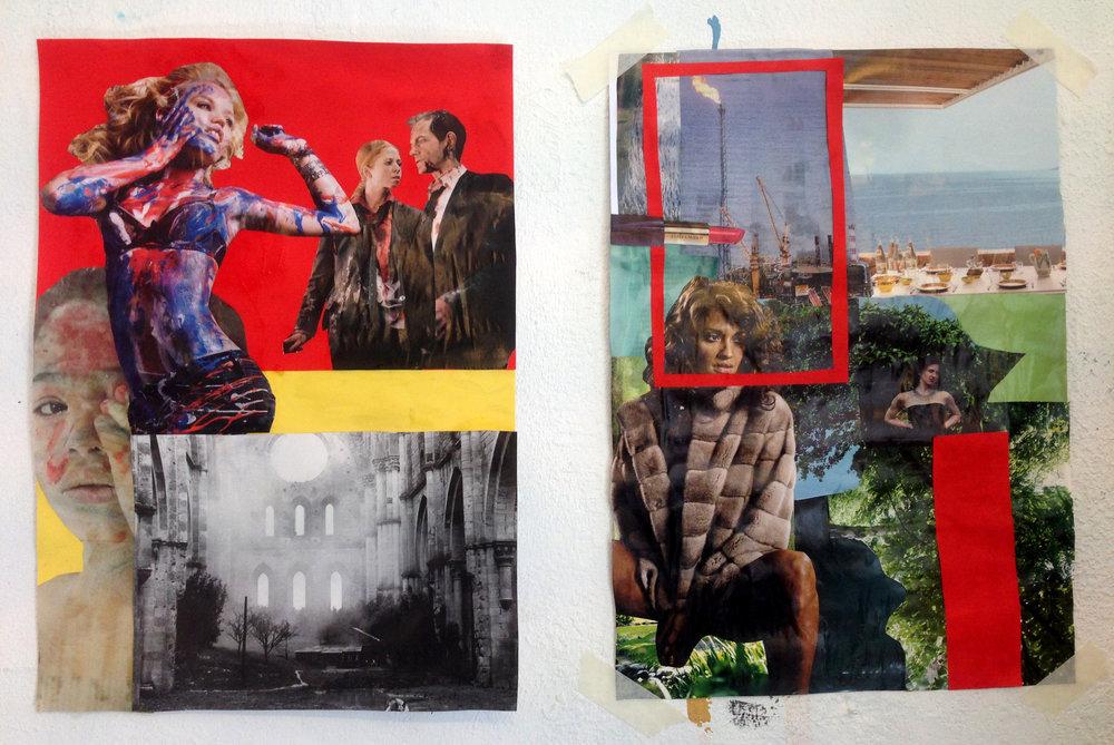 Eco Pro. Martha Rosler inspired collage workshop, 2017