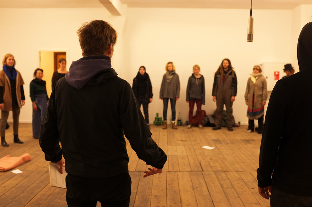 Frisk Flugt - Growing Silent. Andreas Führer performance at New Shelter Plan, 2015