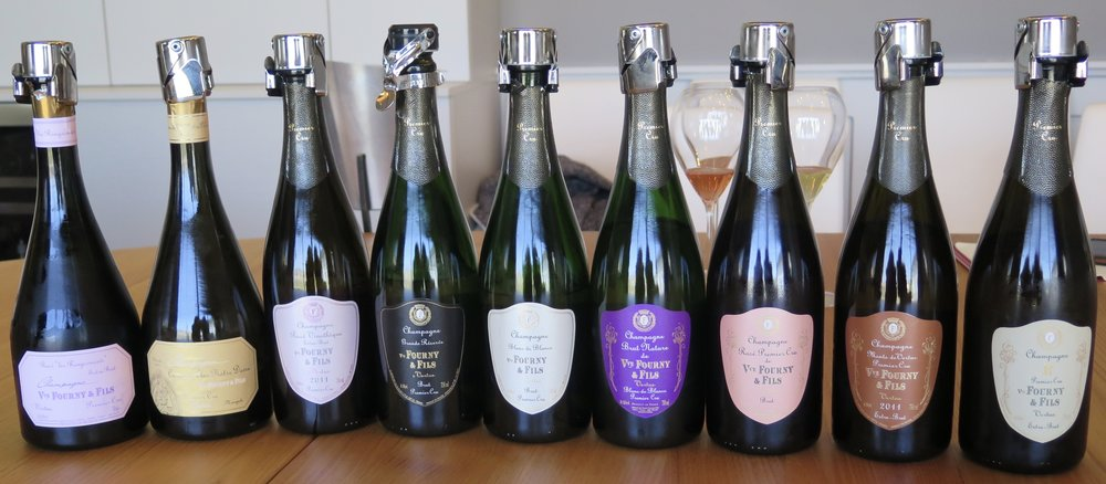 The impressive Champagne Veuve Fourny & Fils collection I tasted during my visit in March 2017