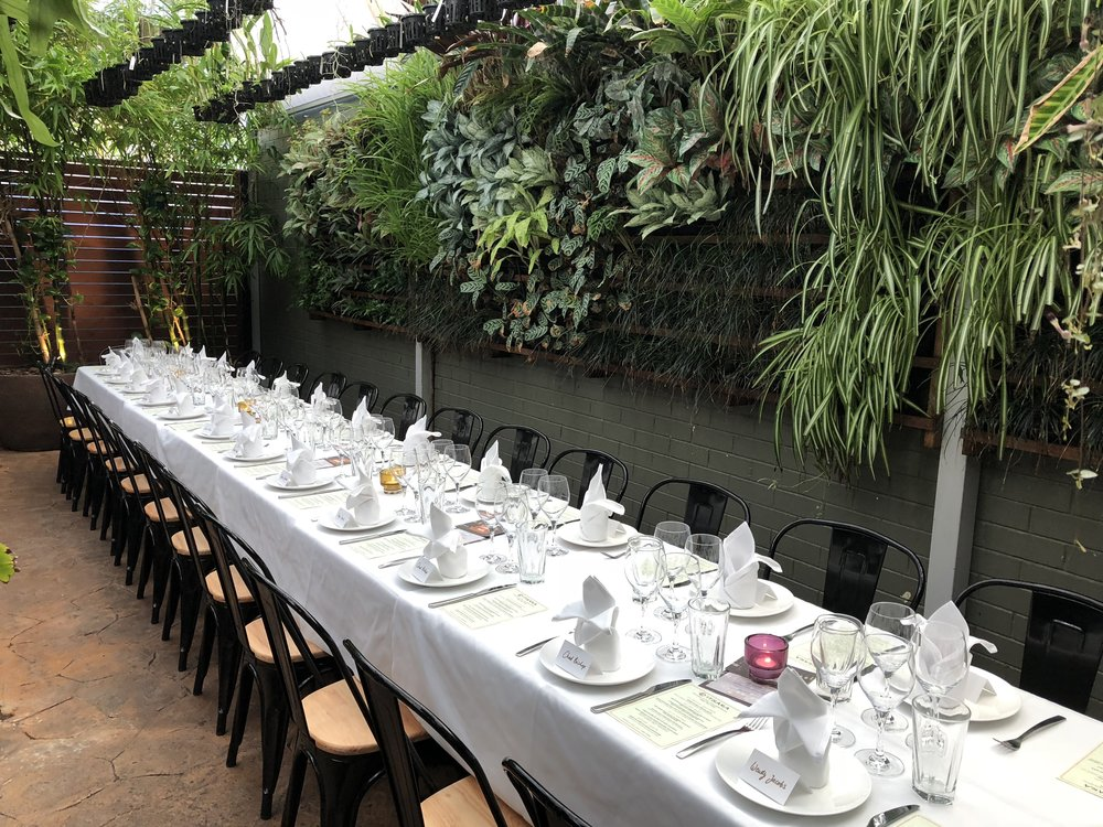 Authentic Thai long table dinner with Canny Grapes at Itsara Nedlands