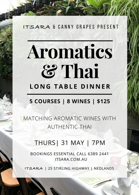 Itsara and Canny Grapes Long Table Dinner Aromatics and Thai Perth