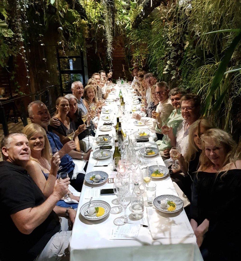 Canny Grapes Aromatics & Thai dinner at Itsara Nedlands, Perth