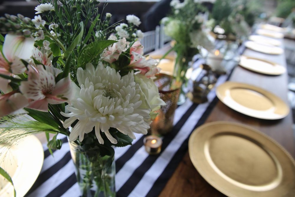 Black And White 2 Table Decor Living Room Design