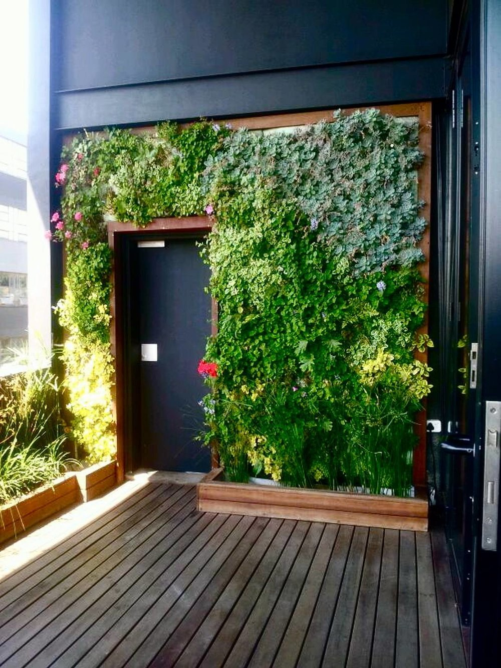 Lush Vertical Garden Maboneng Living Room Design