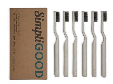Biodegradable Charcoal Toothbrushes