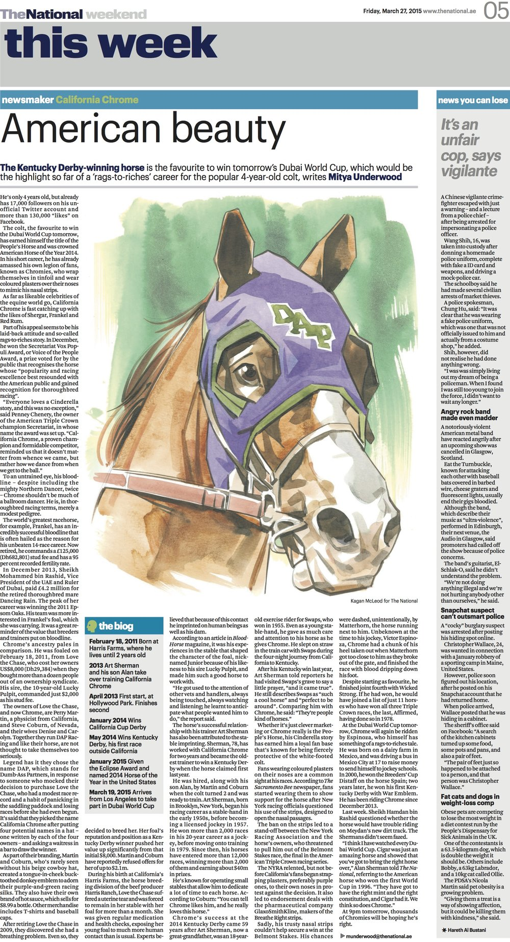 California Chrome: a rags-to-riches tale from the equine world