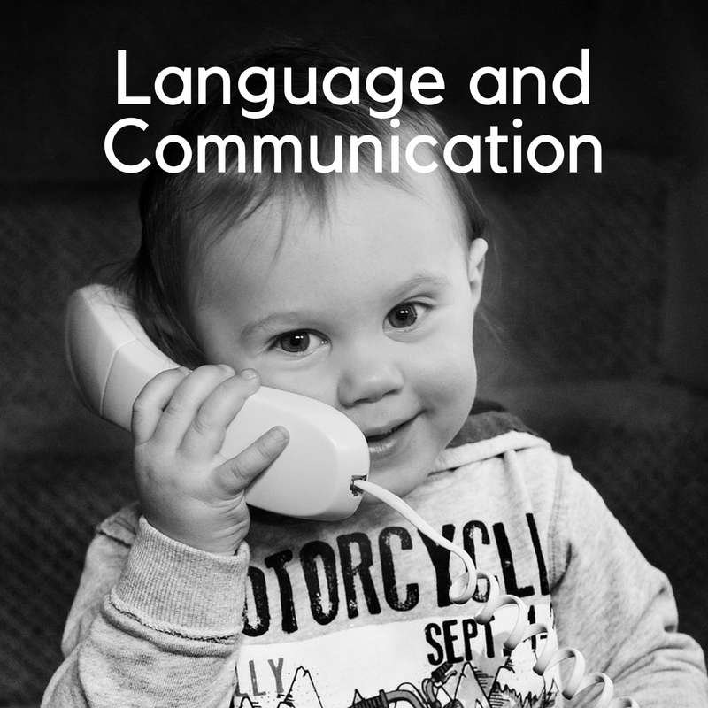 Click to learn a little about how language and communication can develop up to year 1.