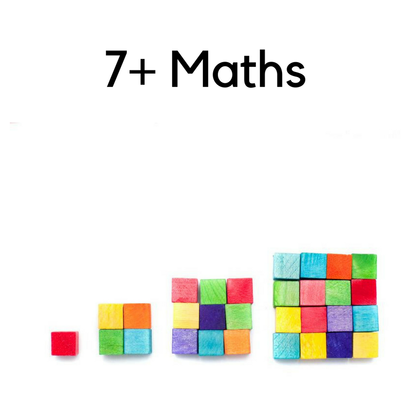 Click here to get an idea of what Maths topics are commonly assessed at 7 plus