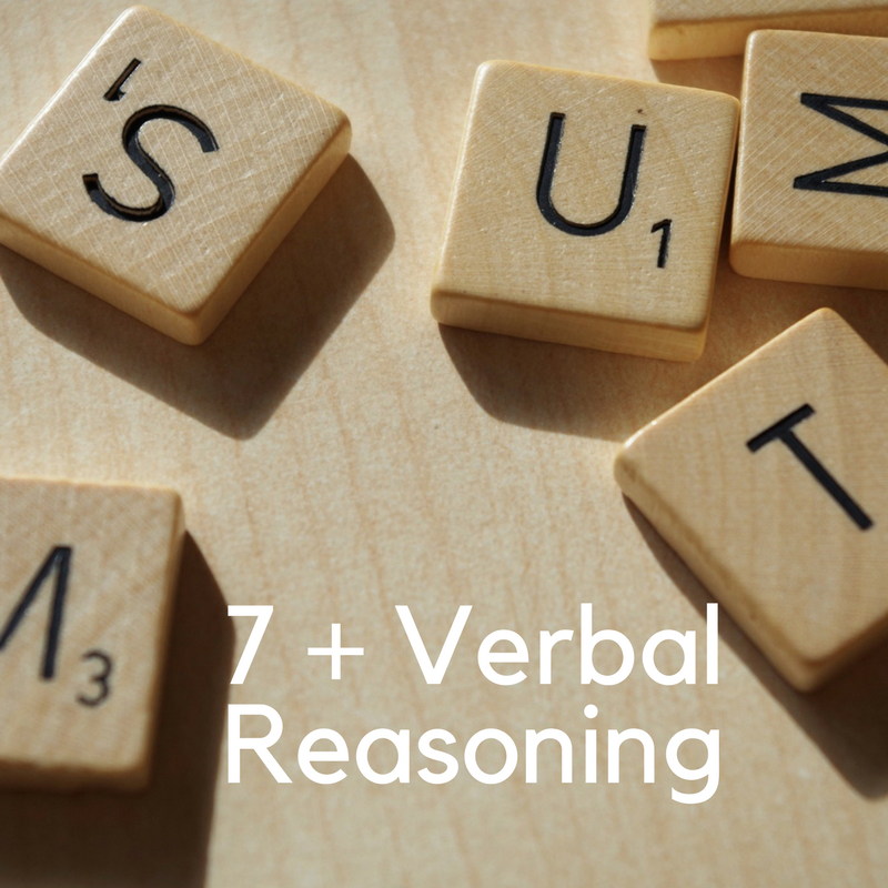 Click here to familiarise yourself with Verbal reasoning at 7 plus