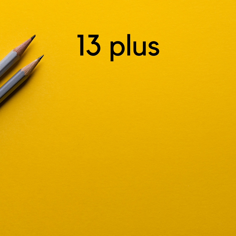 Click here to find out everything you need to know about the 13 plus