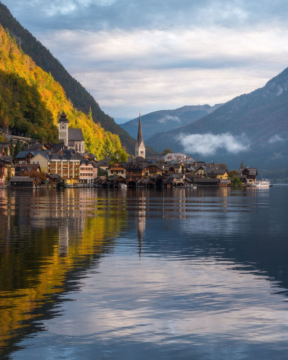 This is my personal favorite of the year, and it seems like it was yours as well, this is by far my most liked photo on Instagram. It was a beautiful autumn morning in Hallstatt, Austria.