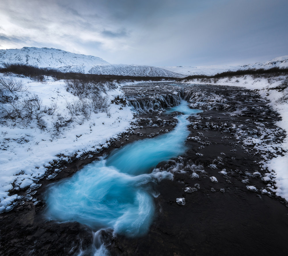 Bruarfoss Waterfall, Iceland - 2018