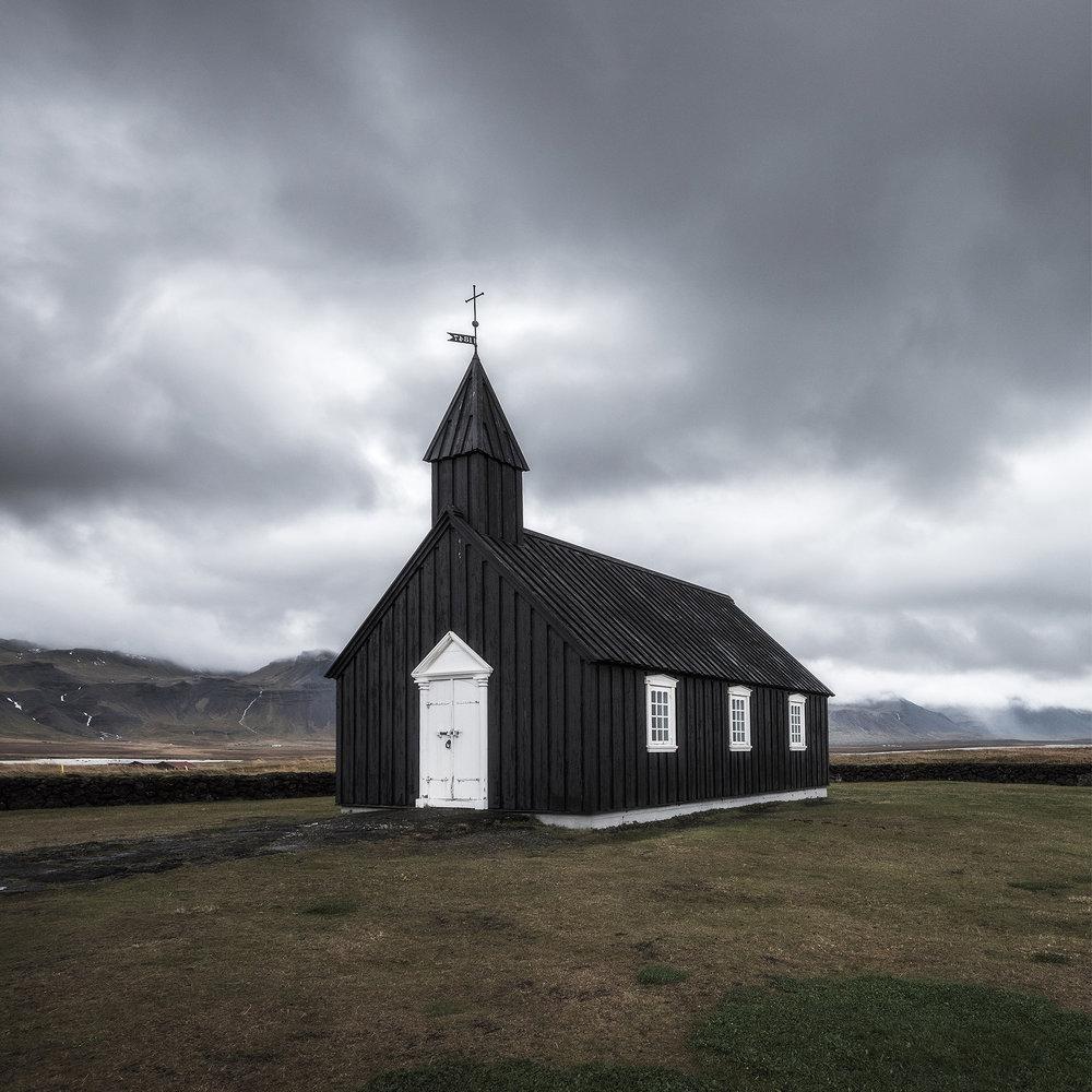 Budir Black Church, Iceland - 2016