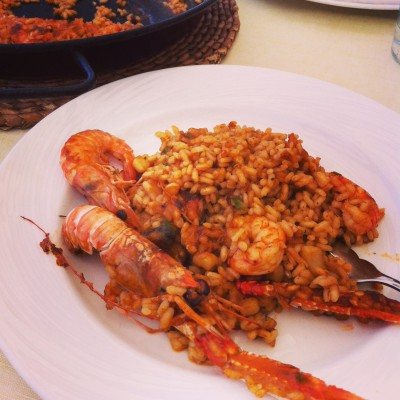 We couldn't leave Barcelona without having Paella!  But my stomach was turning afterwards, far too rich for my blood.