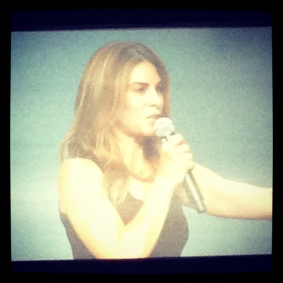 Jillian Michaels kicked off the conference with a chat about fearlessness being impossible, how to embrace your fear and turn it into accomplishment.