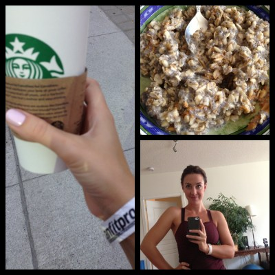 My weekend of healthy breakfasts and caffeinated enthusiasm in the early mornings - only to have become more organic enthusiasm ;)