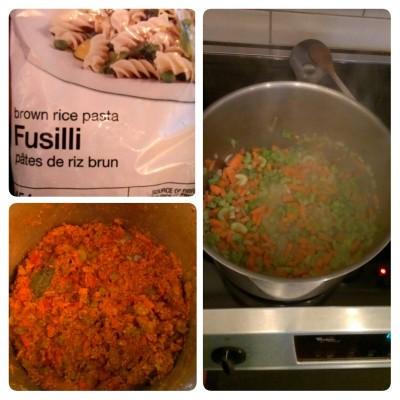 Turkey bolognese brown rice fusilli