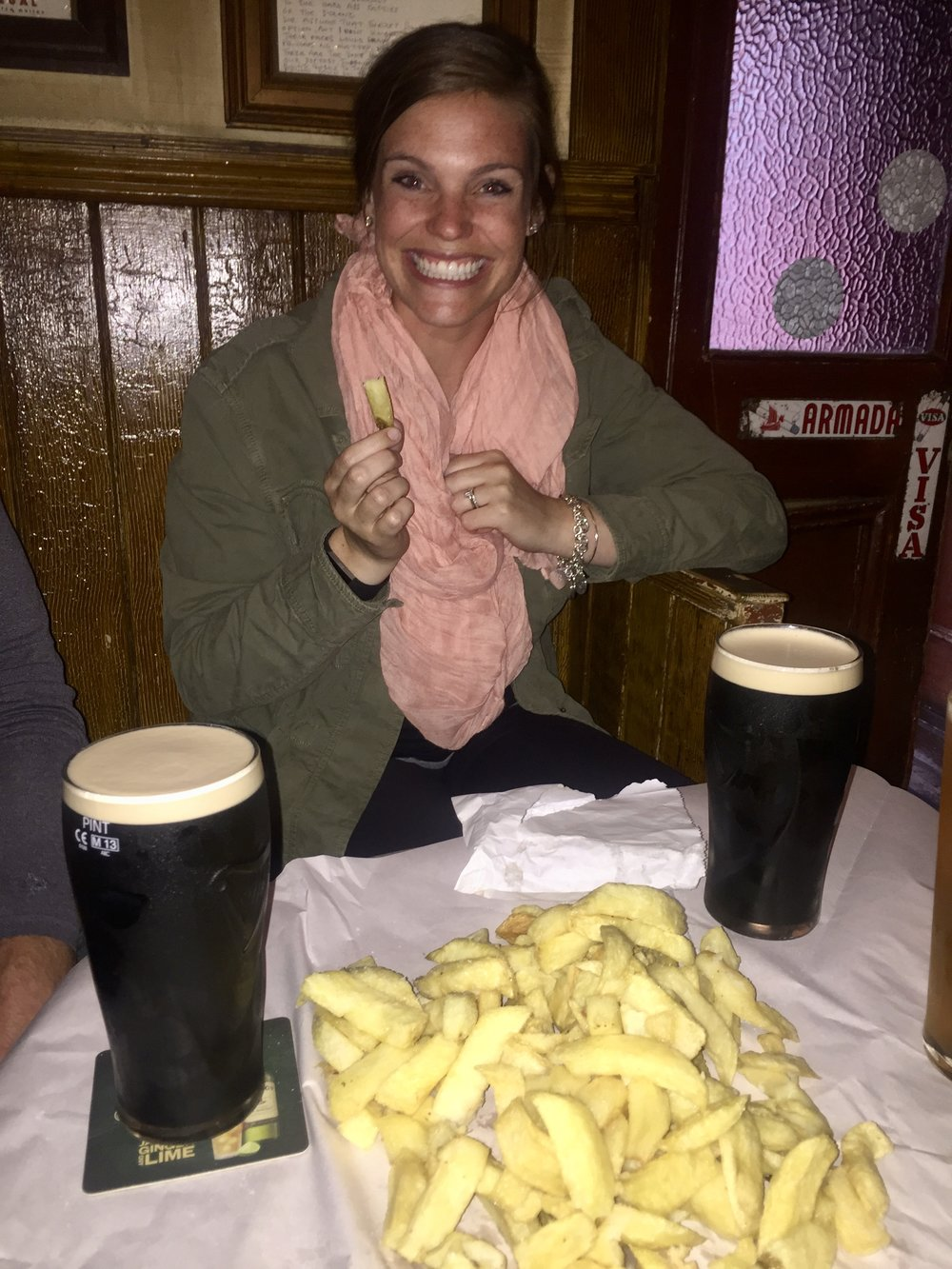 Pints & chips make us happy!