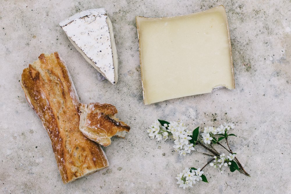 Soft cheeses like Brie  and Camembert (or anything with a rind, really) are not considered safe for pregnant people because they are a higher risk for listeria contamination.