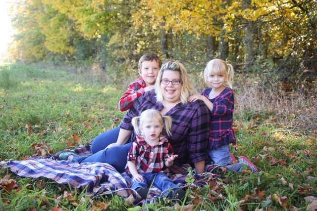 Sarah Susnar and her three beautiful children.