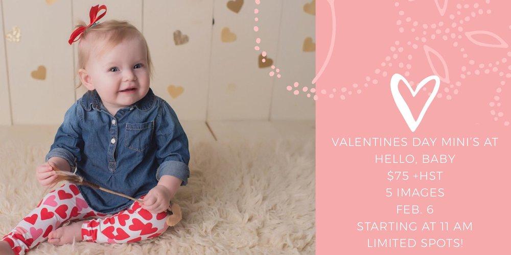 Valentines Day Minis Hello Baby