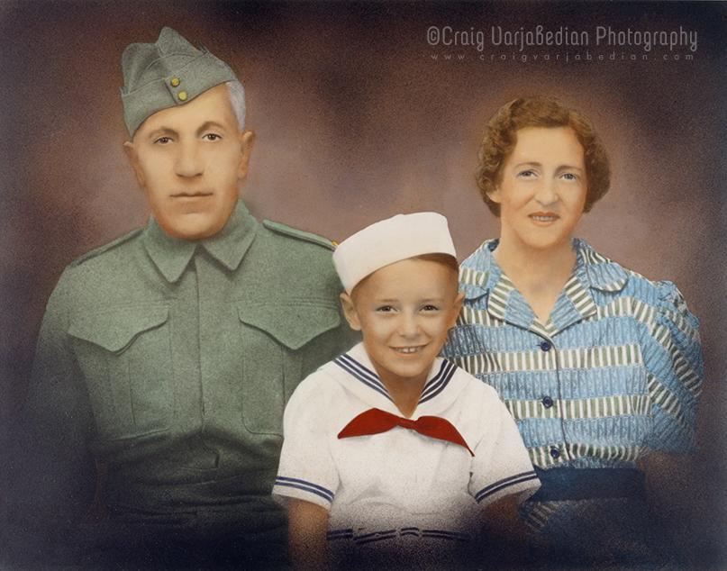 Vahan, Suren & Dora Varjabedian c.1940