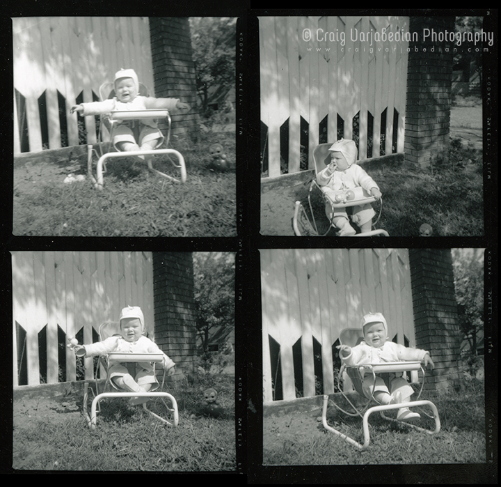 Pictures of the photographer as a baby, Lena Street, Windsor Ontario, Canada c.1958