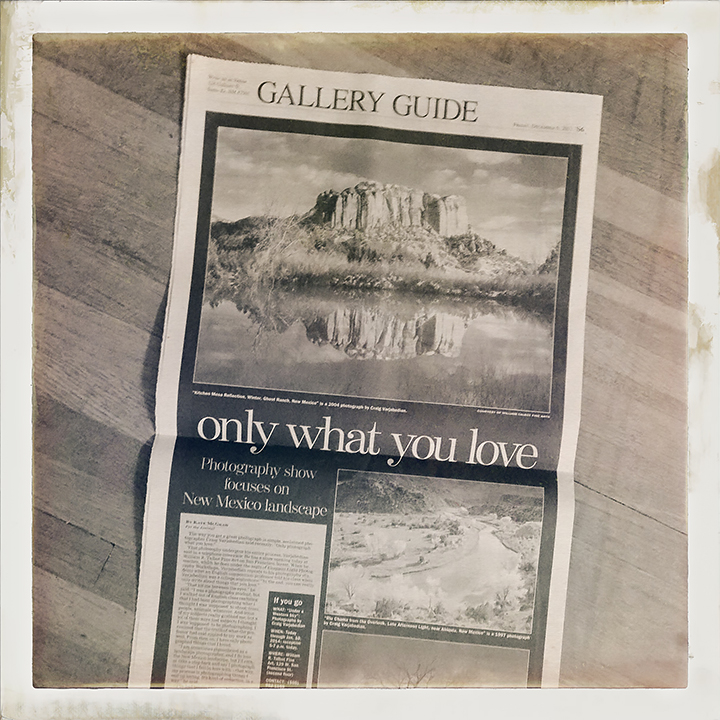 Only What You Love, an article by Kate McGraw in the December 6, 2013 issue of the Albuquerque Journal