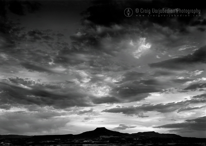 Cerro Pedernal No. 2, Sunset, Abiquiú, New Mexico, 1996  Photograph ©Craig Varjabedian