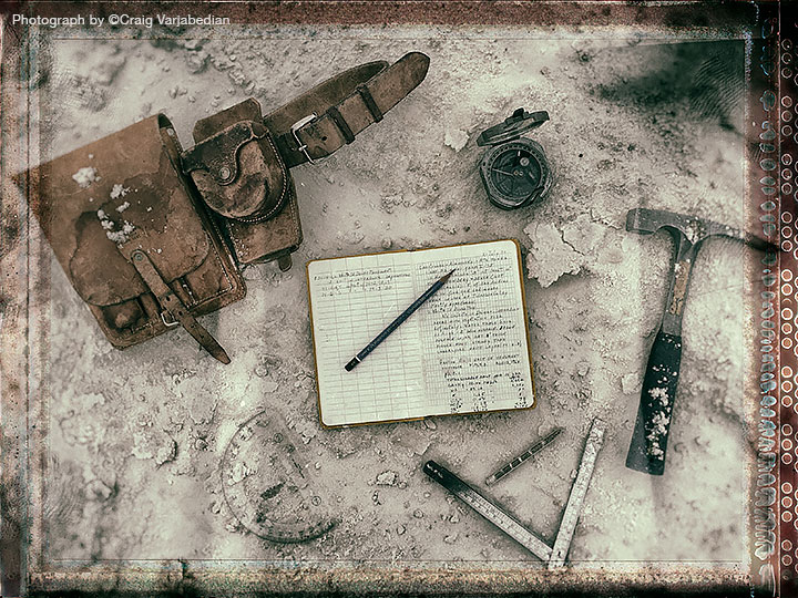 Geologist Larry Lattman's Tools, White Sands National Monument, New Mexico 2014 Photograph by ©Craig Varjabedian