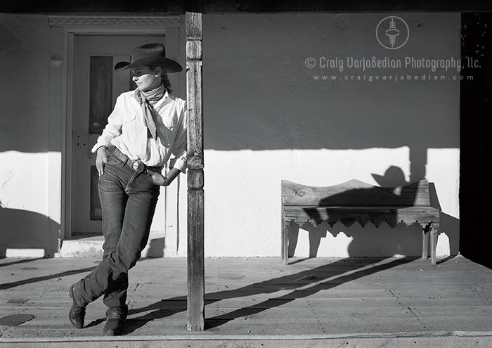 Sadie Lombardi, Horsewoman, Santa Fe, New Mexico  2004  Photograph by ©Craig Varjabedian