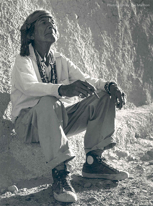 White Man's Moccasins, Laguna Pueblo by Lee Marmon  Photograph courtesy of the University of New Mexico Press