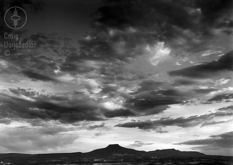 Cerro Pedernal No. 2, Sunset, Abiquiu, New Mexico  1996  Photograph by ©Craig Varjabedian