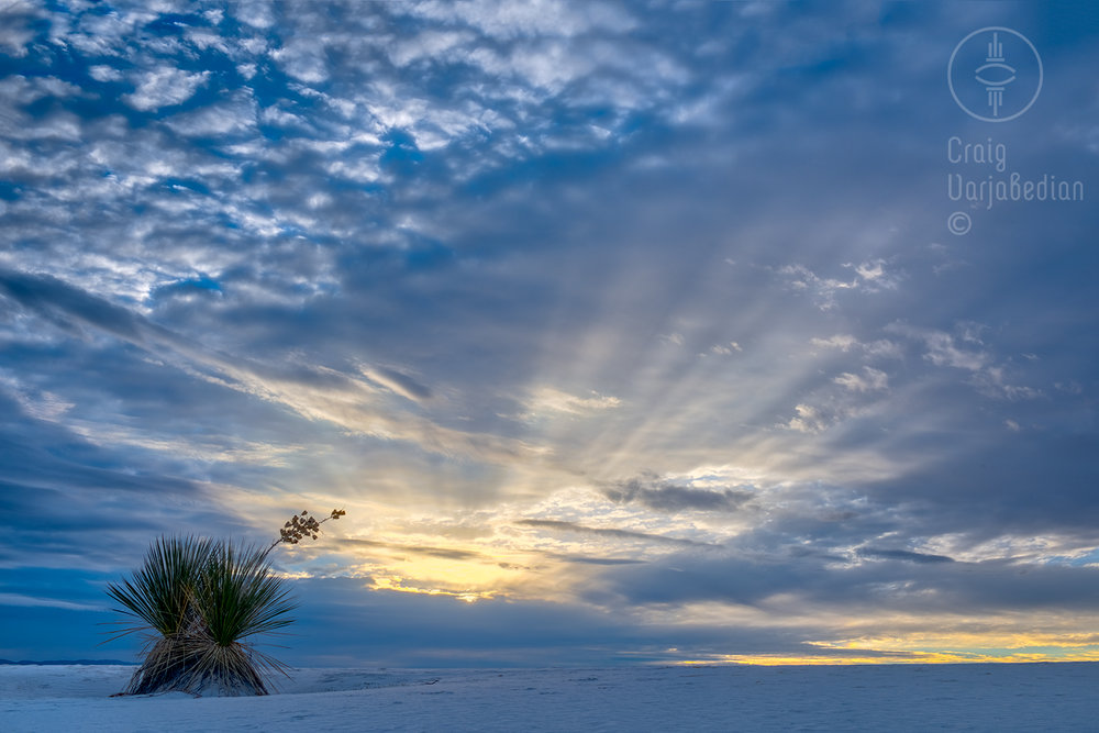 Sunset, White Sands