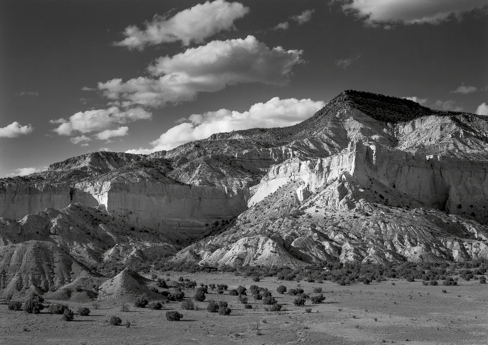 Cliff face and hills summer ghost ranch new mexico 2005