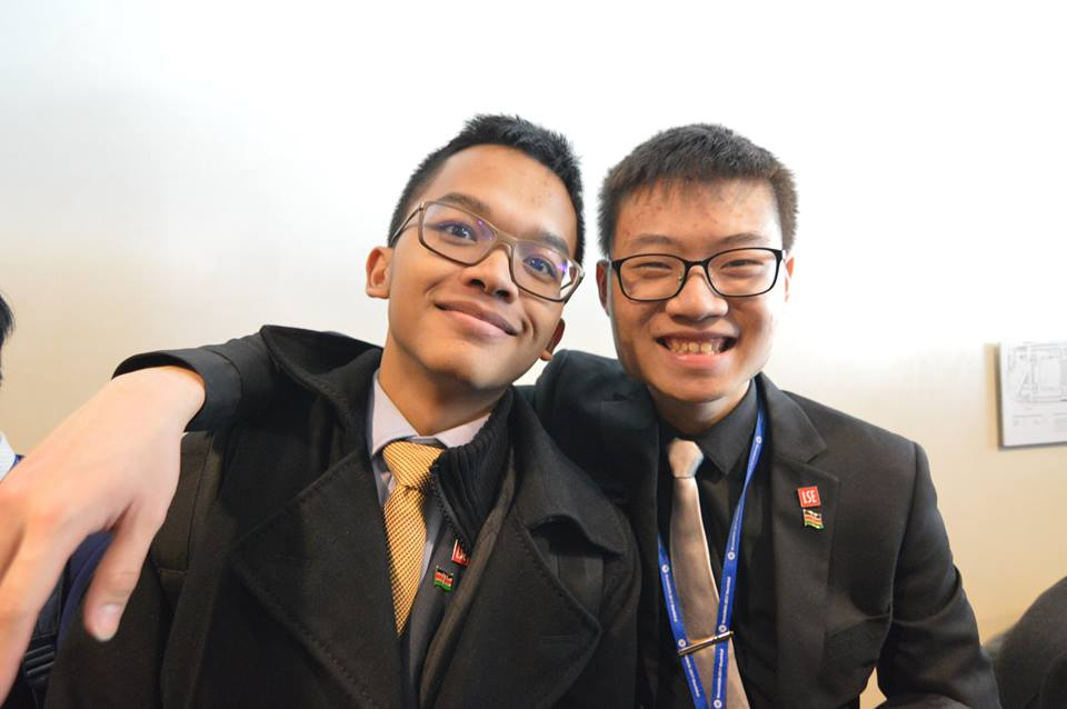 Treasurer Naufal Yudiana and Vice-President Yi Jun Mock