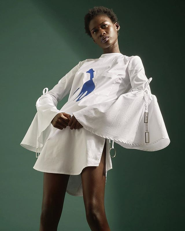 RICH MNISI is a South African based contemporary fashion brand founded in 2014 by LISOF graduate and Africa Fashion International Young Designer of the Year 2014, Rich Mnisi. With a global view catering for an aspirational market, the brand is young at heart and explores the treasures engraved within Africa and the world of modern culture and heritage to tell the unique stories of then, now and soon. All this packaged in extremist yet minimalist structures which take design and craftsmanship as the first and foremost motivation. With, designer, Rich Mnisi's keen interest in the world of pop culture, he has carved the brand to maintain a contemporary outlook and stand firm in an aesthetic that brings worlds of artistic imagination together. RICH MNISI breeds new layers and visions inspired by sources outside of the realm of fashion, including film, music, art and nature, being immersed but measured, picking up only the fitting notes to gather as foundation. #women #talent #african #art #fashion #follow #dress #details #gifted #pose #editorial #social #change #foundations