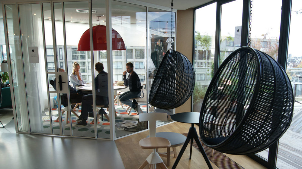 Meeting area at Zoku, Amsterdam, a place that offers flexible living/working hybrid apartments