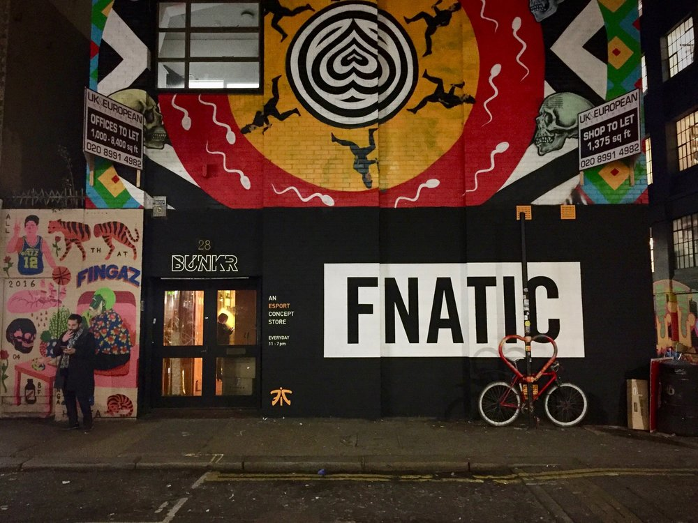 Pop-up shop/gaming space (now closed) by Fnatic in Shoreditch London