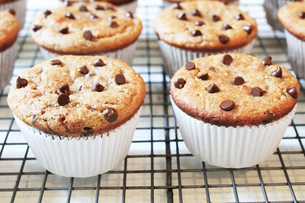 maple almond butter muffins on drying rack.jpg