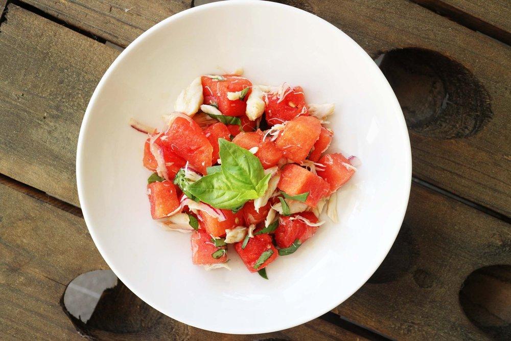 Watermelon and Crab Summer Salad