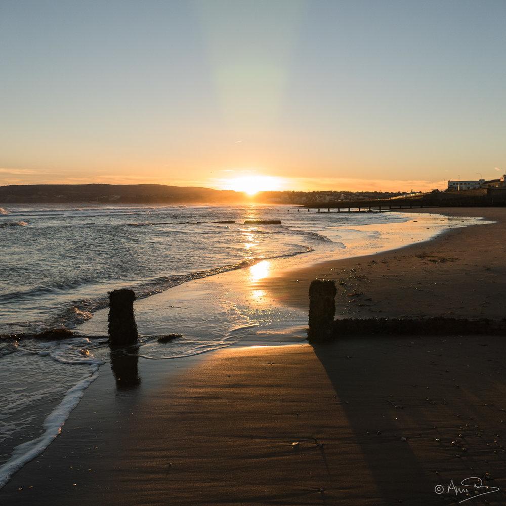 Sandown sunset.