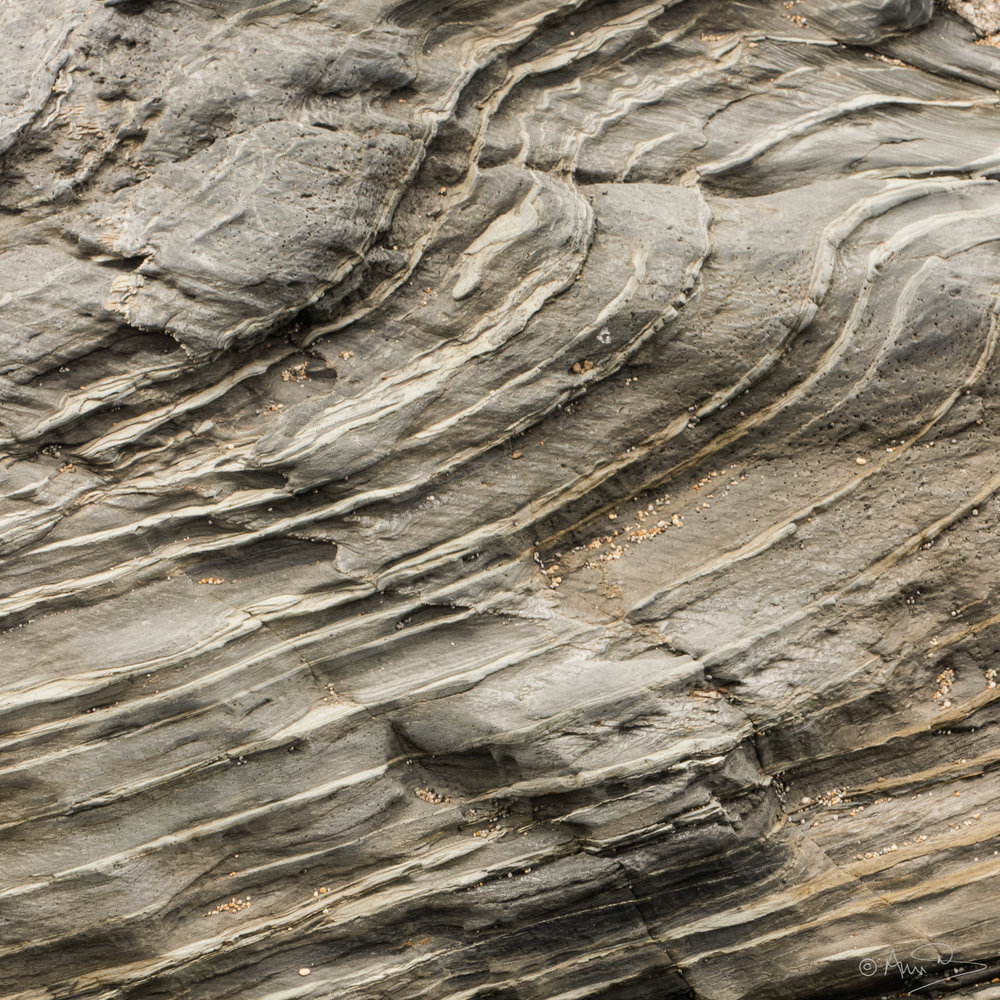 Striated rocks